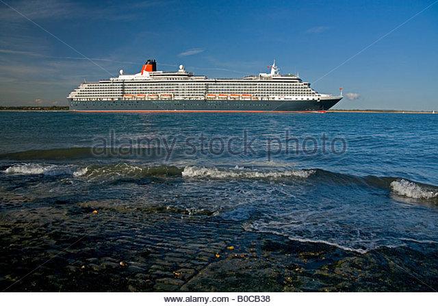 Königin Victoria Southampton Water Stockbild