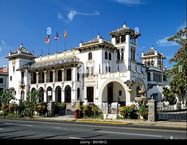 Casa de Espana, San Jose, Puerto Rico, Caribbean Stockbild