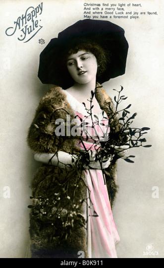 """""""Eine glückliche Yule"""", 1913. Stockbild"""