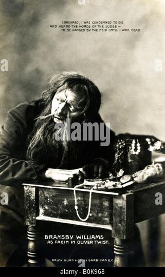 Bransby Williams (1870-1961), britischer Schauspieler, Anfang des 20. Jahrhunderts. Künstler: Ralph Dunn & Stockbild