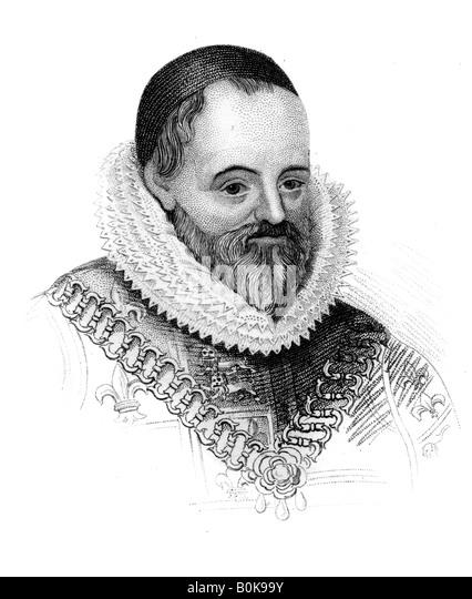 William Camden, englische Antiquar und Historiker, (c1850). Künstler: unbekannt Stockbild