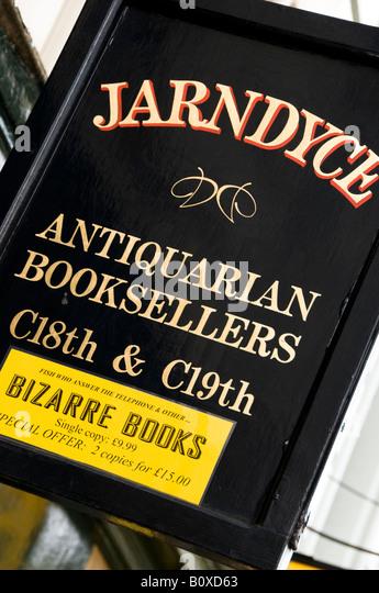 Jarndyce Antiquarian Booksellers, London, UK Stockbild