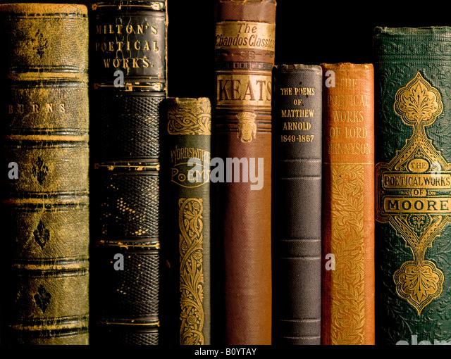 Alten antiquarische Werke (Poesie) Stockbild
