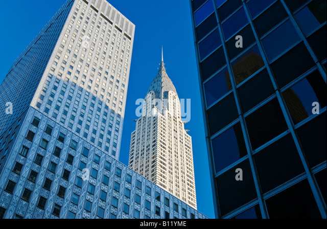 "Das Chrysler Building, New York City. 1930er Jahre Art Deco von ""William Van Alen."" Stockbild"