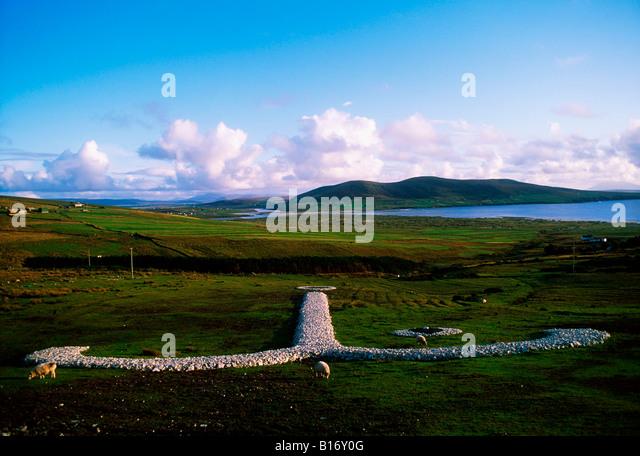 Broadhaven, County Mayo, Irland, in der Nähe von Carrowteige Stockbild