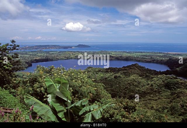 Mont Passot Kratersee Nosy Be Insel Madagaskar Stockbild