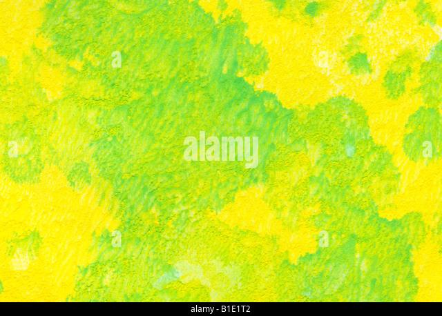 gelb grün Aquarell waschen Hintergrund Stockbild