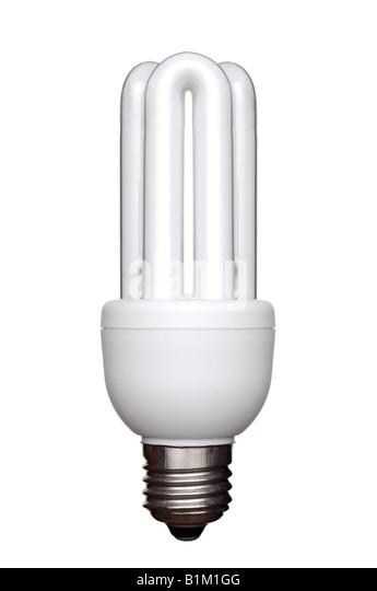 Energiesparende Glühbirne eine umweltfreundliche Alternative zu herkömmlichen Glühlampen Stockbild