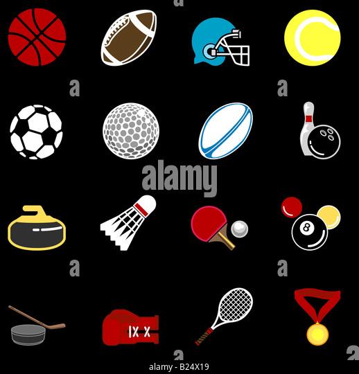 Reihe von Sport-icons Stockbild