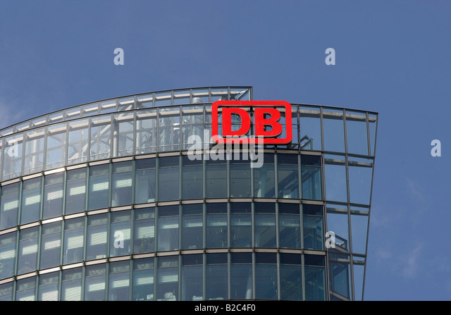 Deutsche Bahn, deutsche National Railway Company corporate Headquarter, der Potsdamer Platz, Berlin, Deutschland, Stockbild