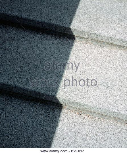 Schatten auf Schritte Stockbild
