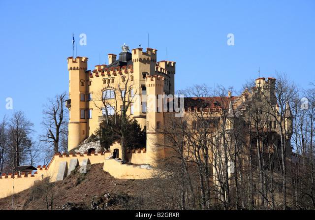Schloss Hohenschwangau, Bayern, Deutschland. Stockbild