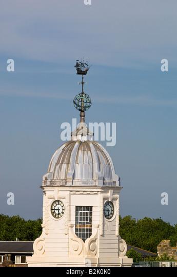 Architektur im Hafen von Southampton, Vereinigtes Königreich Stockbild