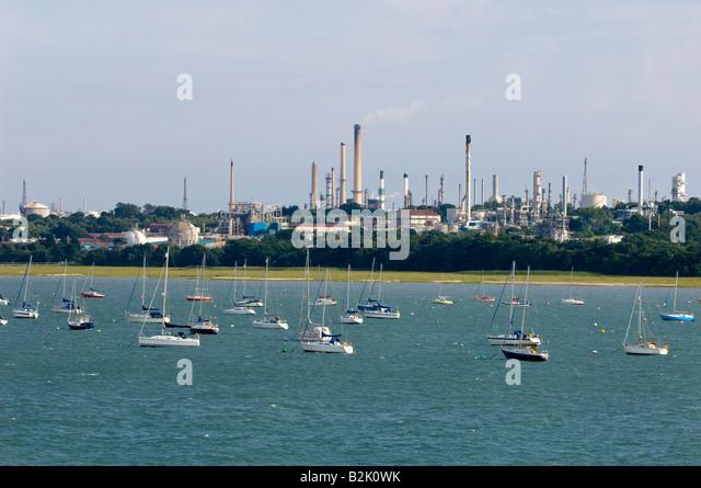 Boote und Yachten in der Marina Southampton, Vereinigtes Königreich Stockbild