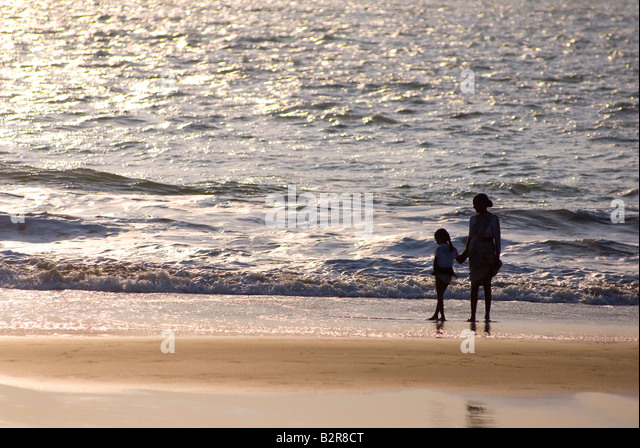 Agonda Beach, Süd-Goa, Indien, Asien Stockbild