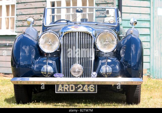 Alvis Car Vintage 40er 50er 30er Jahre Brooklands Surrey Stockbild