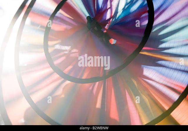 Nahaufnahme von einem Pin-Rad Stockbild