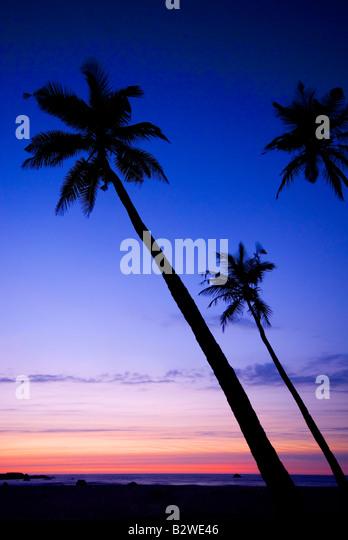 Sonnenuntergang am Agonda Beach, Süd-Goa, Indien, Asien Stockbild