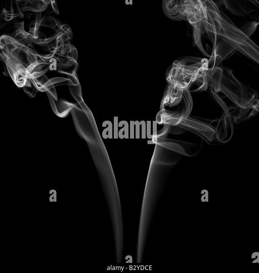 Zigarettenrauch Stockbild