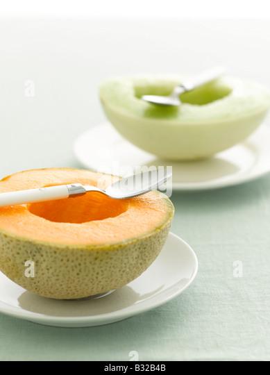 Melone und Honigmelone selektiven Fokus Stockbild
