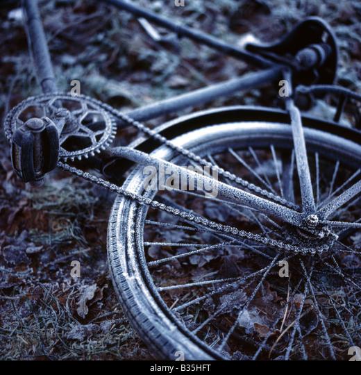 ein altes Fahrrad Stockbild