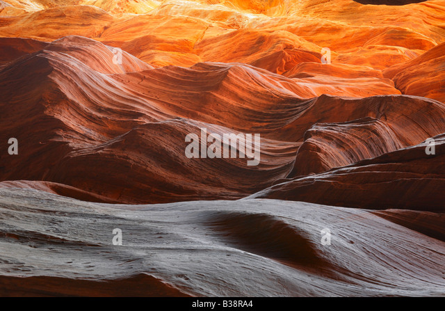 Felswand in Buckskin Gulch, Paria Canyon Wilderness Stockbild