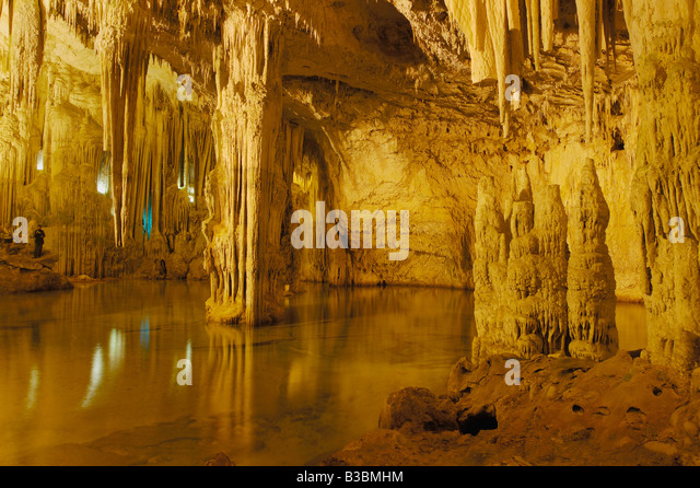 Neptuns Grotte Grotta di Nettuno Sardinien Italien Stockbild