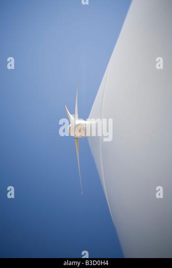 Windkraftanlage, close-up Stockbild