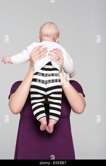 Mutter und Baby Mädchen Stockbild