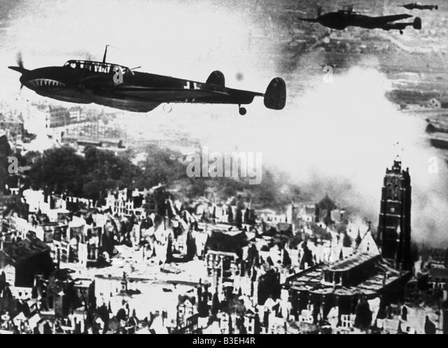 Dem zweiten Weltkrieg/Bomber/Dünkirchen. Stockbild