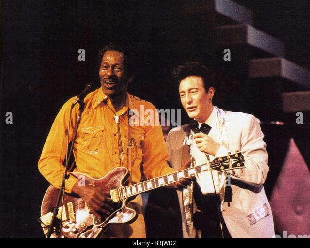 CHUCK BERRY HAIL! HAGEL! Es ist ROCK ' n ROLL 1987 Universal Film mit Sean Lennon und Chuck Berry Stockbild