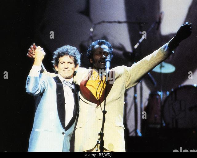 CHUCK BERRY HAIL! HAGEL! Es ist ROCK ' n ROLL 1987 Universal Film mit Chuck Berry und Keith Richards Stockbild