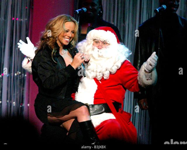 Mariah Carey us-Sänger am kiis fm Jingle ball Konzert, Kalifornien, 2002 Stockbild