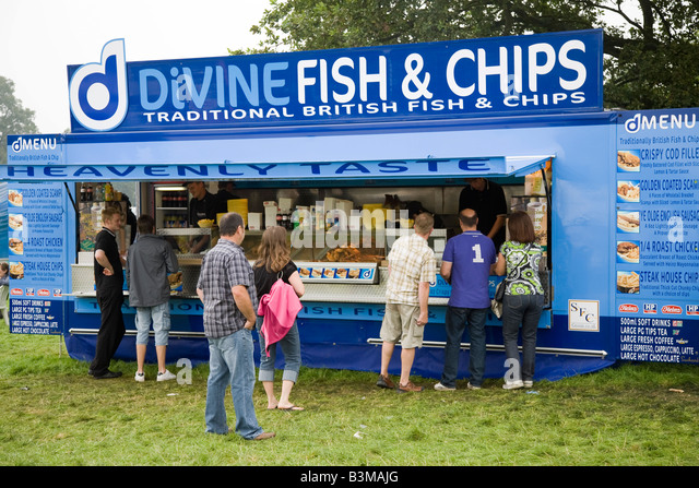 Trade Stands Chatsworth Country Fair : Fish chip van stockfotos bilder alamy