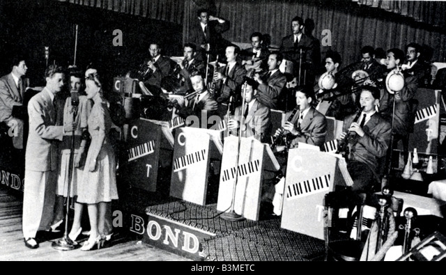 CLAUDE THORNHILL BAND uns 30 s-40 s Tanzband Stockbild