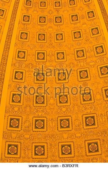 Details der Decke über die Main Lesung Zimmer Thomas Jefferson Building The Bibliothek der Kongress Washington Stockbild