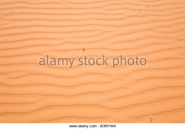 Kleine Wellen Muster Ripple Muster Sanddüne natürliche Textur Texturen Coral Pink Sand Dunes State Park Stockbild