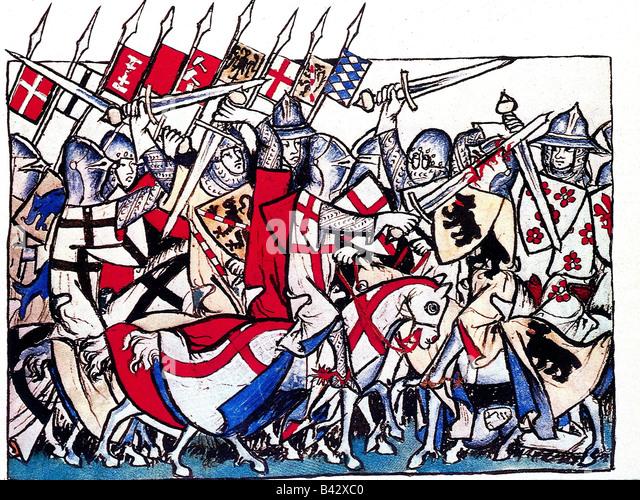 Heinrich VII., ca. 1275 - 24.8.1313, römisch-deutscher Kaiser 29.6.1312 - 24.8.1313, Kampf gegen die Mailänder, Stockbild