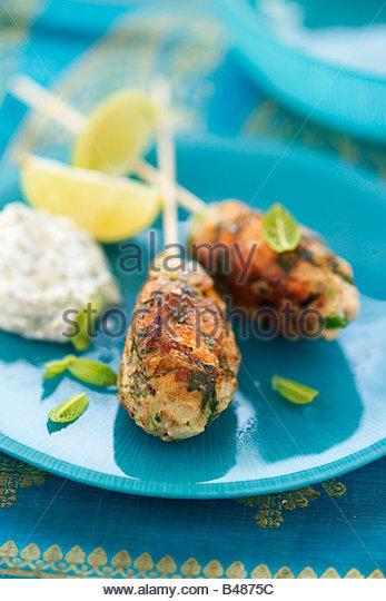 Fisch-Kebab (Indien) Stockbild