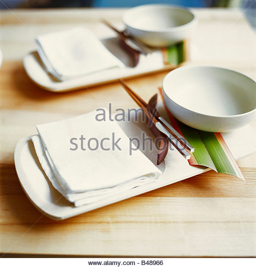 Asian Place Einstellungen Stockbild