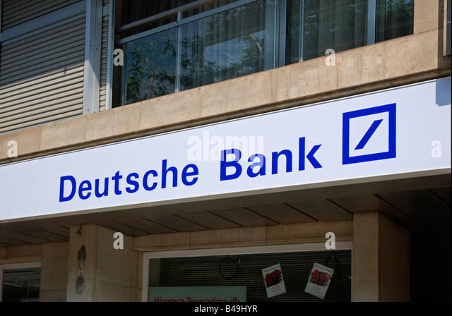 Deutsche Bank-Zeichen Stockbild