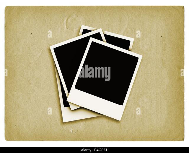 Polaroids auf Grunge-Stil-Hintergrund Stockbild