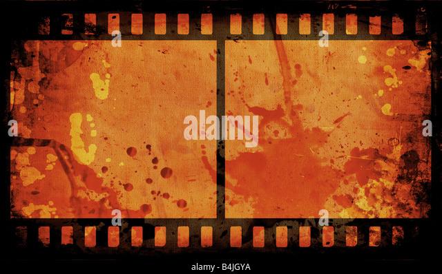 Grunge-Stil-Film-Streifen-Hintergrund Stockbild