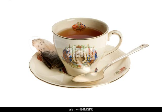 Teetasse Krönung von Königin Elizabeth II Stockbild