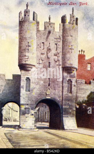 Alte Vintage Ansichtskarte nur zur redaktionellen Nutzung Stockbild