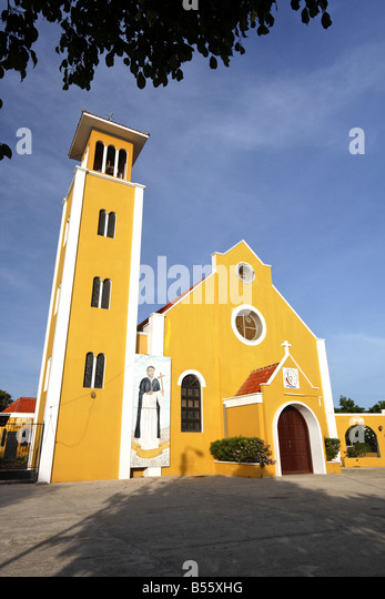 Antillen Bonaire Rincon Dorfkirche Stockbild