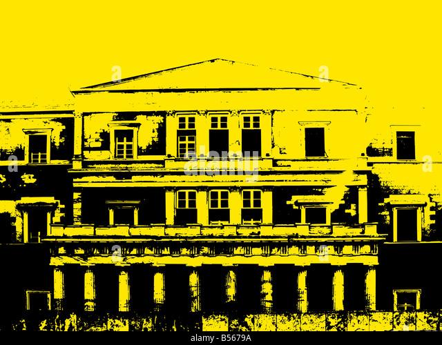 Grunge-Gebäude-Hintergrund Stockbild