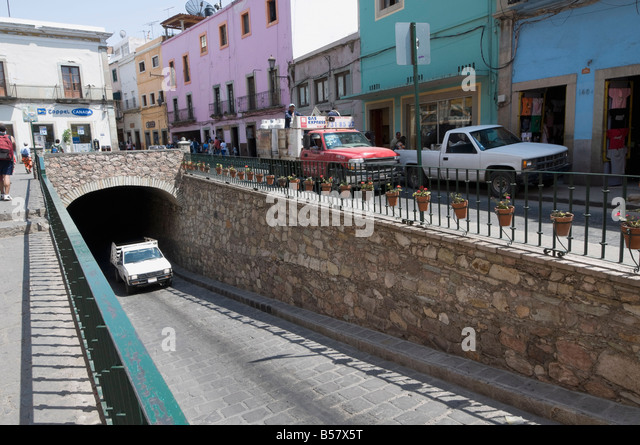 Berühmten Tunnel von Guanajuato, ein UNESCO-Weltkulturerbe, Bundesstaat Guanajuato, Mexiko, Nordamerika Stockbild
