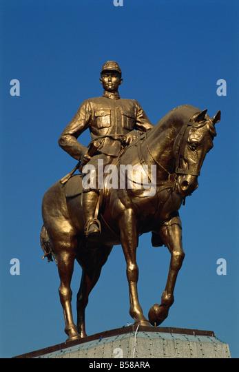 Statue von General Aung San, Pyay (Prome), Myanmar (Burma) Stockbild