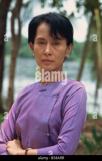 Aung San Suu Kyi zu Hause, Rangun, Myanmar (Burma) Stockbild